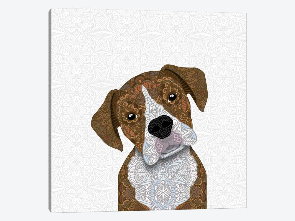 Fawn Boxer, White Snout by Angelika Parker 1-piece Canvas Art Print