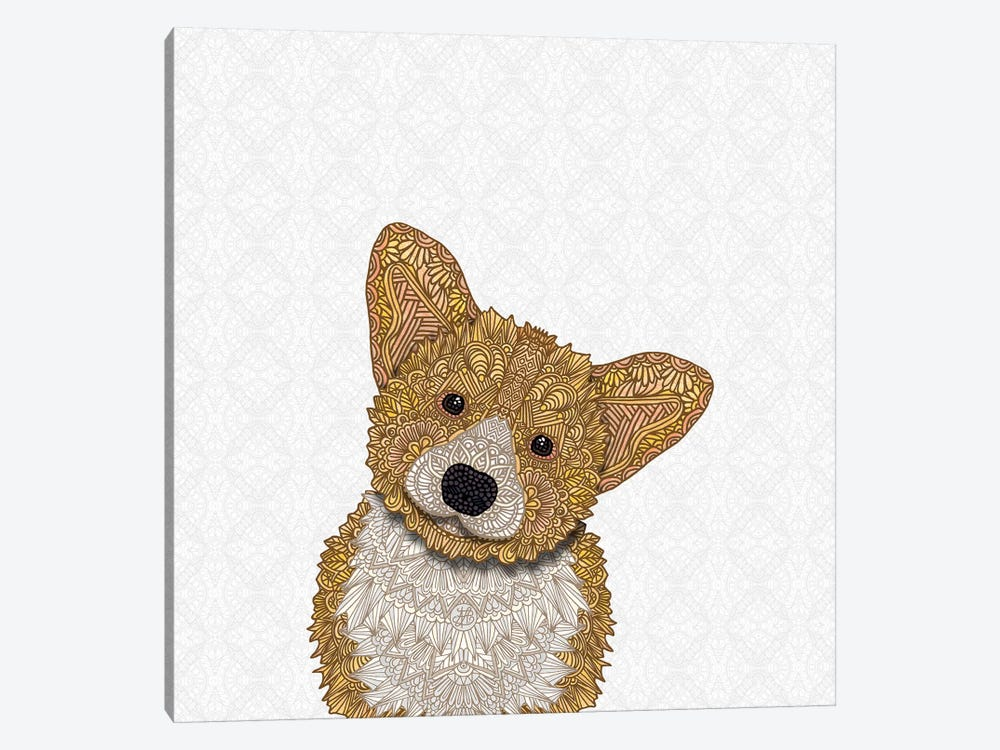 Fawn Corgi by Angelika Parker 1-piece Canvas Art