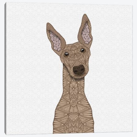 Fawn Greyhound Canvas Print #ANG149} by Angelika Parker Canvas Art Print