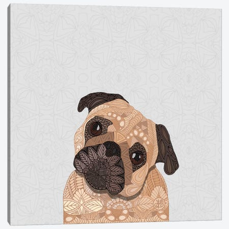 Fawn Pug Canvas Print #ANG153} by Angelika Parker Canvas Wall Art