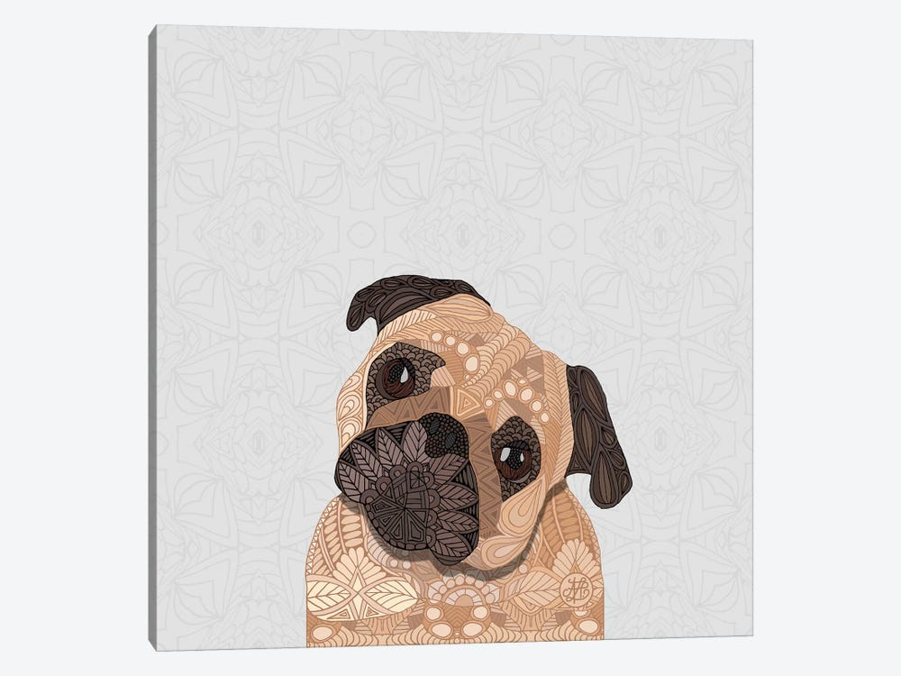 Fawn Pug by Angelika Parker 1-piece Canvas Art