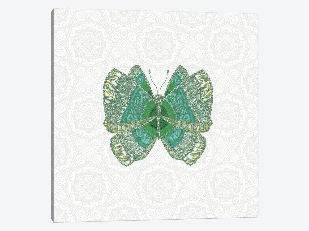 Green Butterfly by Angelika Parker 1-piece Canvas Art Print