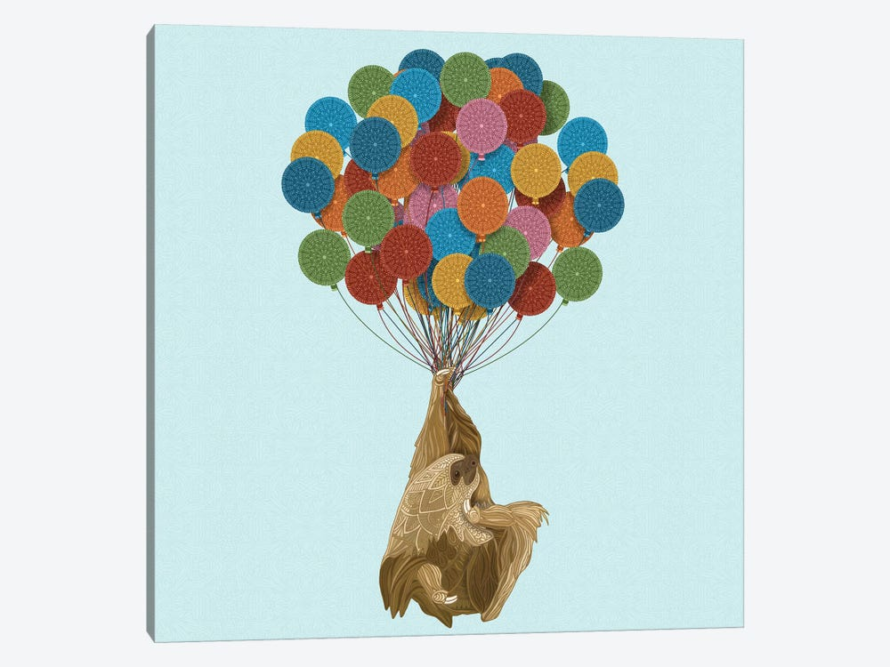 Happy Birthday Sloth by Angelika Parker 1-piece Canvas Artwork
