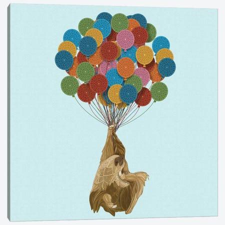 Happy Birthday Sloth Canvas Print #ANG157} by Angelika Parker Canvas Print