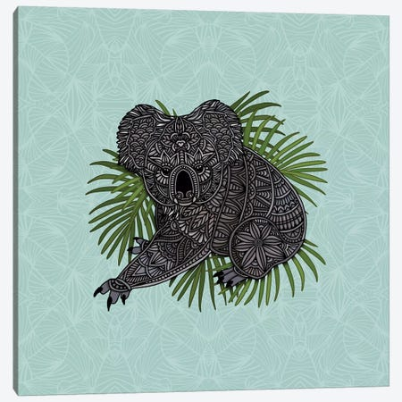 Happy Koala Canvas Print #ANG158} by Angelika Parker Canvas Artwork