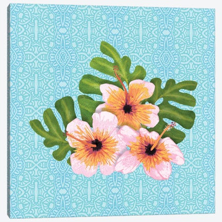 Hibiscus 3-Piece Canvas #ANG159} by Angelika Parker Canvas Art