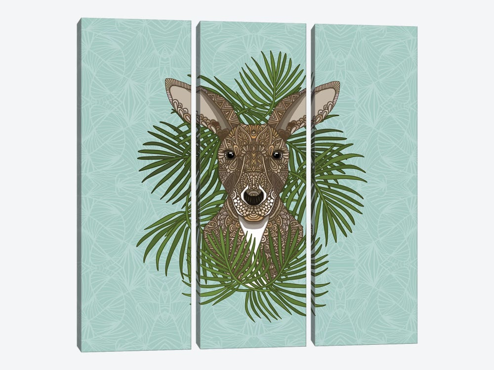 Kangaroo by Angelika Parker 3-piece Canvas Artwork