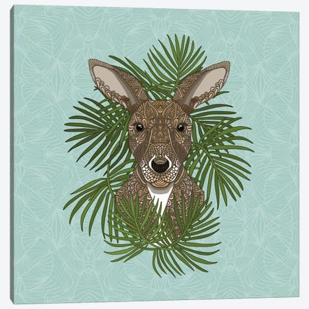 Kangaroo Canvas Print #ANG160} by Angelika Parker Art Print
