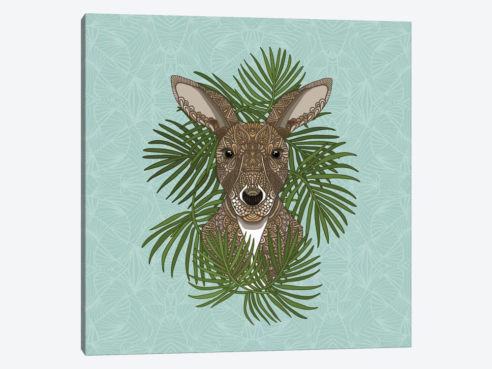 Kangaroo by Angelika Parker 1-piece Canvas Art