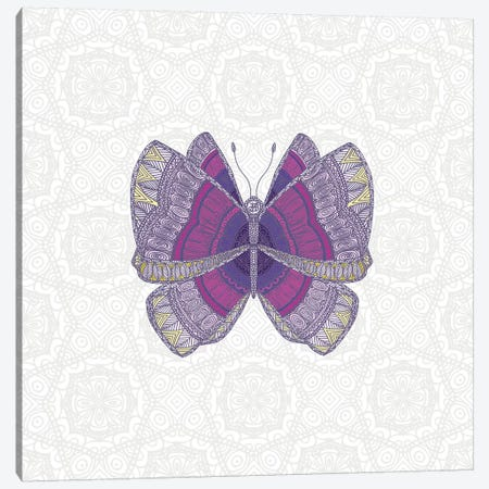 Mauve Butterfly Canvas Print #ANG163} by Angelika Parker Canvas Print