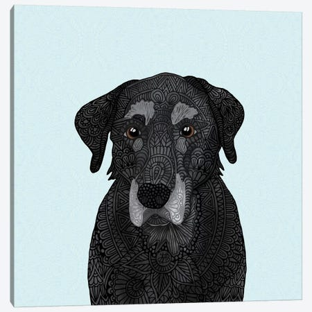 Old Black Lab Canvas Print #ANG165} by Angelika Parker Canvas Wall Art