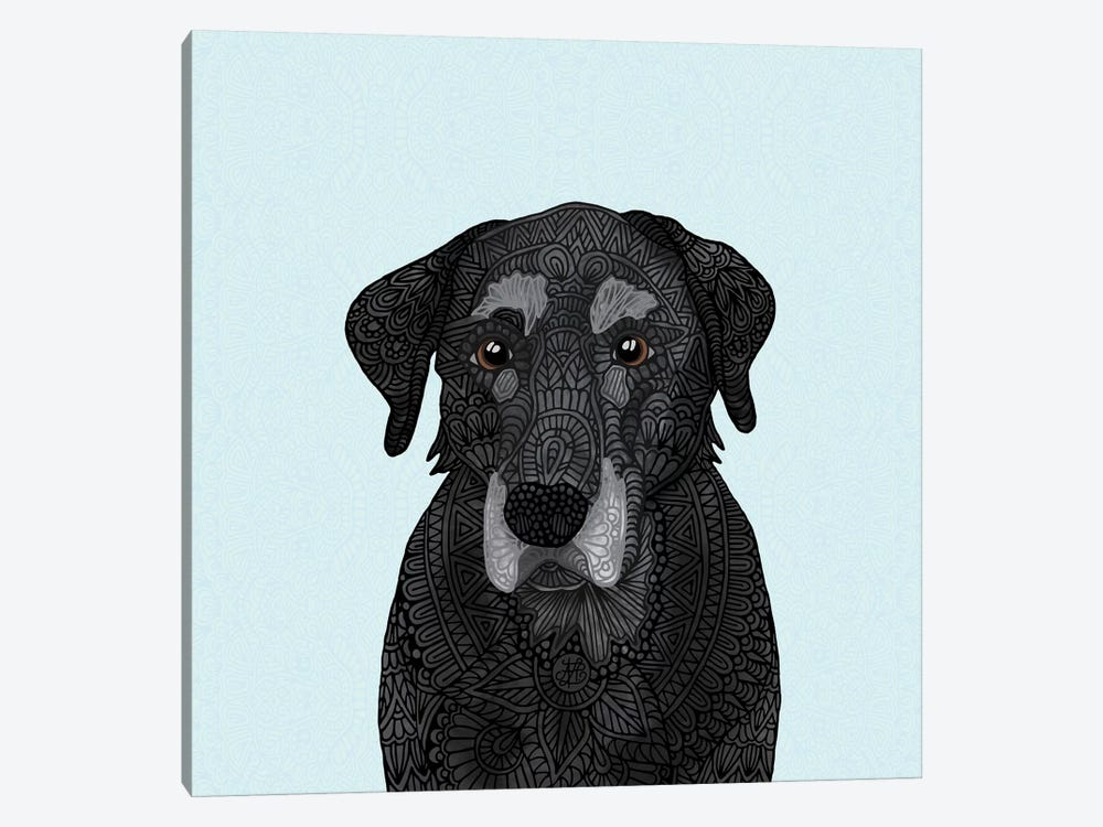 Old Black Lab 1-piece Canvas Art Print