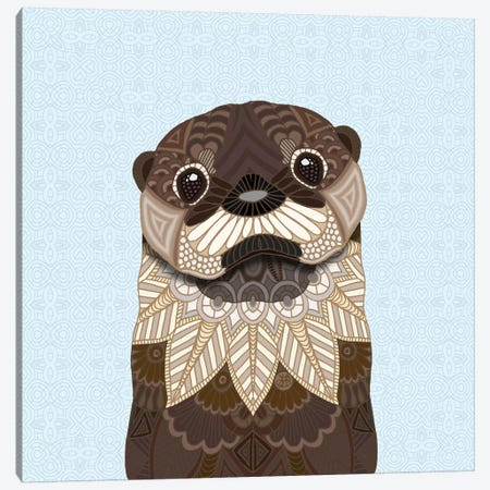 Otterly Cute 3-Piece Canvas #ANG166} by Angelika Parker Canvas Artwork
