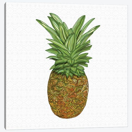 Pineapple Canvas Print #ANG168} by Angelika Parker Art Print