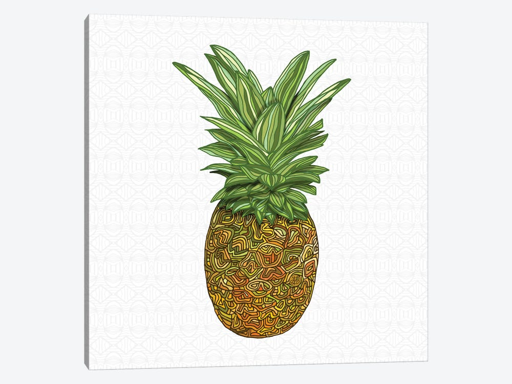 Pineapple by Angelika Parker 1-piece Canvas Wall Art