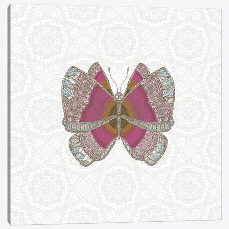 Pink Butterfly Canvas Print #ANG169} by Angelika Parker Canvas Art Print