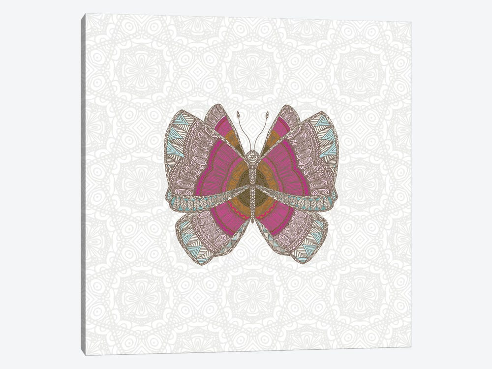 Pink Butterfly by Angelika Parker 1-piece Canvas Print