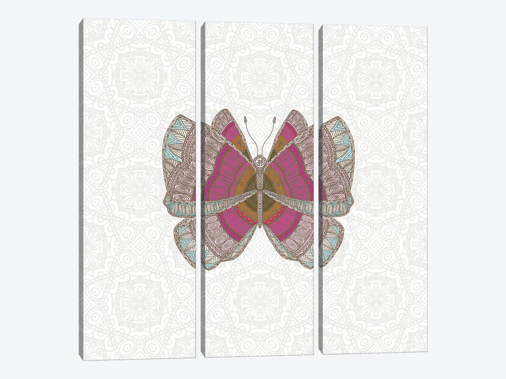 Pink Butterfly by Angelika Parker 3-piece Canvas Art Print