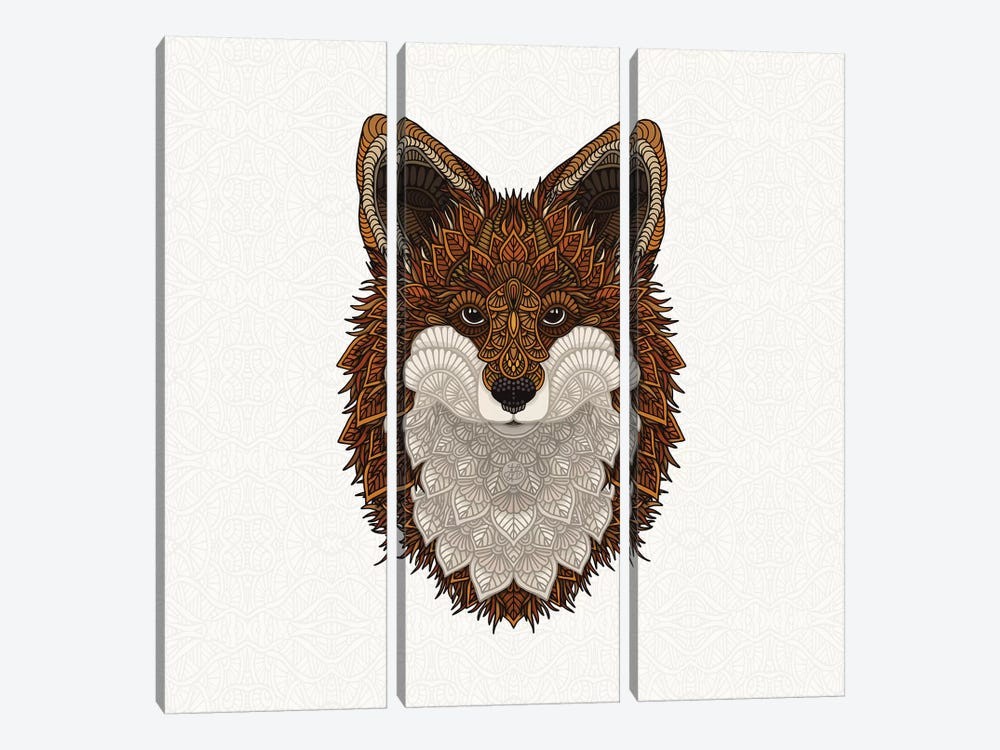 Red Fox by Angelika Parker 3-piece Canvas Print