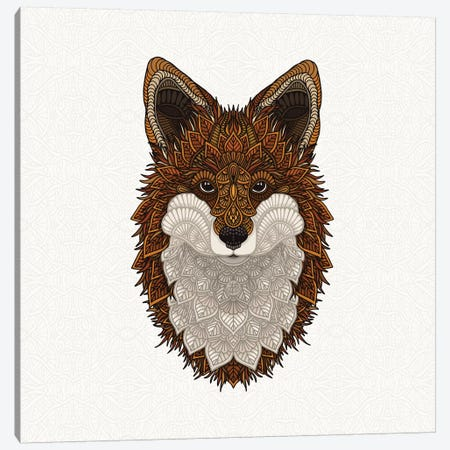 Red Fox Canvas Print #ANG172} by Angelika Parker Canvas Wall Art