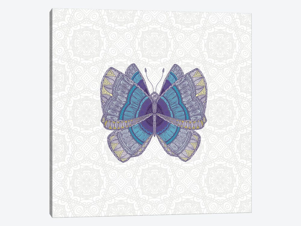 Teal Butterfly by Angelika Parker 1-piece Canvas Art Print