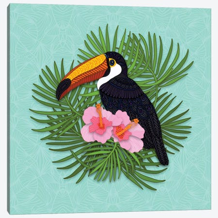 Toucan Summer Canvas Print #ANG175} by Angelika Parker Canvas Print