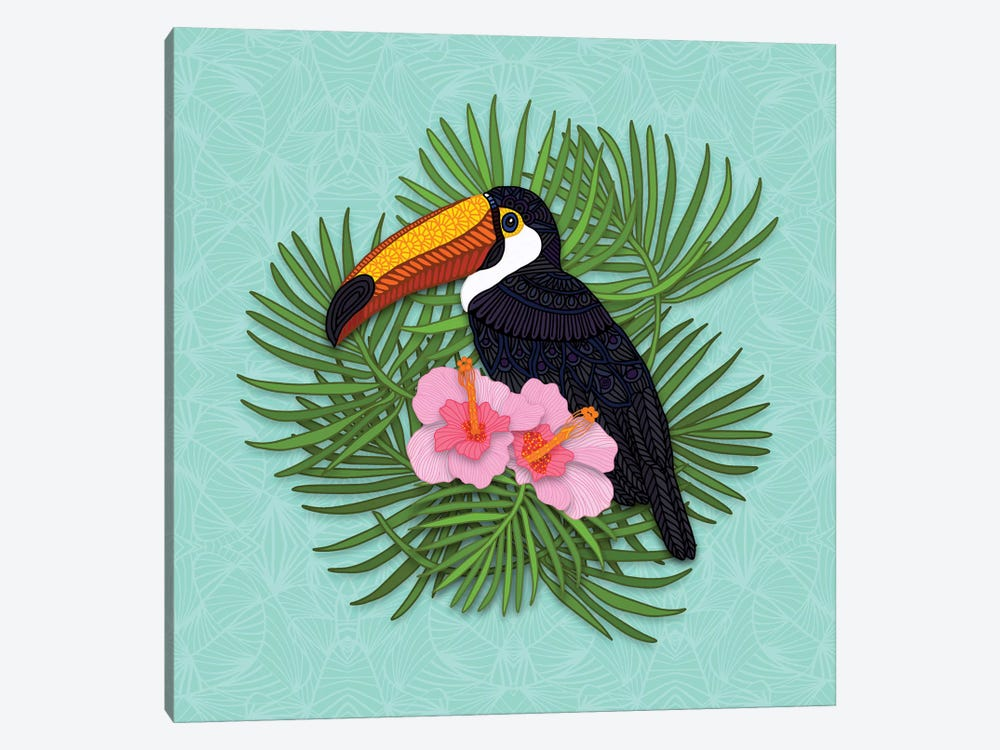 Toucan Summer by Angelika Parker 1-piece Canvas Artwork