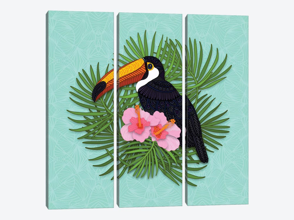Toucan Summer by Angelika Parker 3-piece Canvas Art