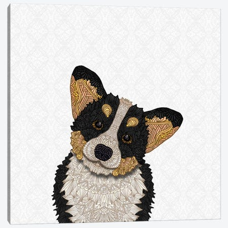 Tri-Colored Corgi Canvas Print #ANG176} by Angelika Parker Canvas Print
