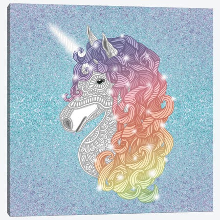 Unicorn Canvas Print #ANG177} by Angelika Parker Canvas Art Print