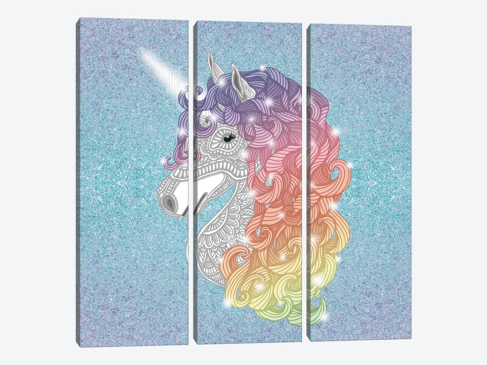Unicorn by Angelika Parker 3-piece Canvas Art