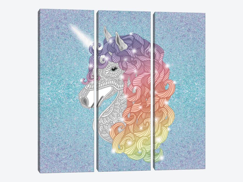 Unicorn by Angelika Parker 3-piece Canvas Art