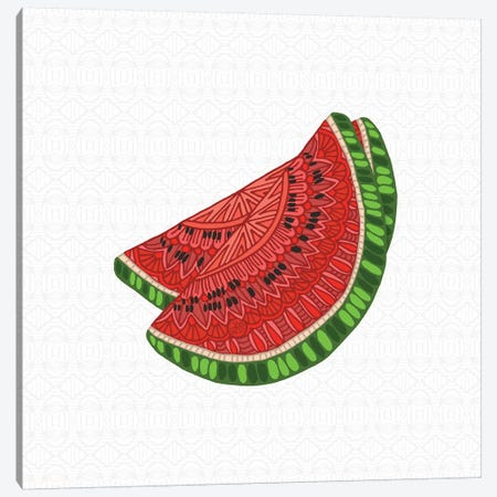 Watermelon Canvas Print #ANG178} by Angelika Parker Canvas Wall Art