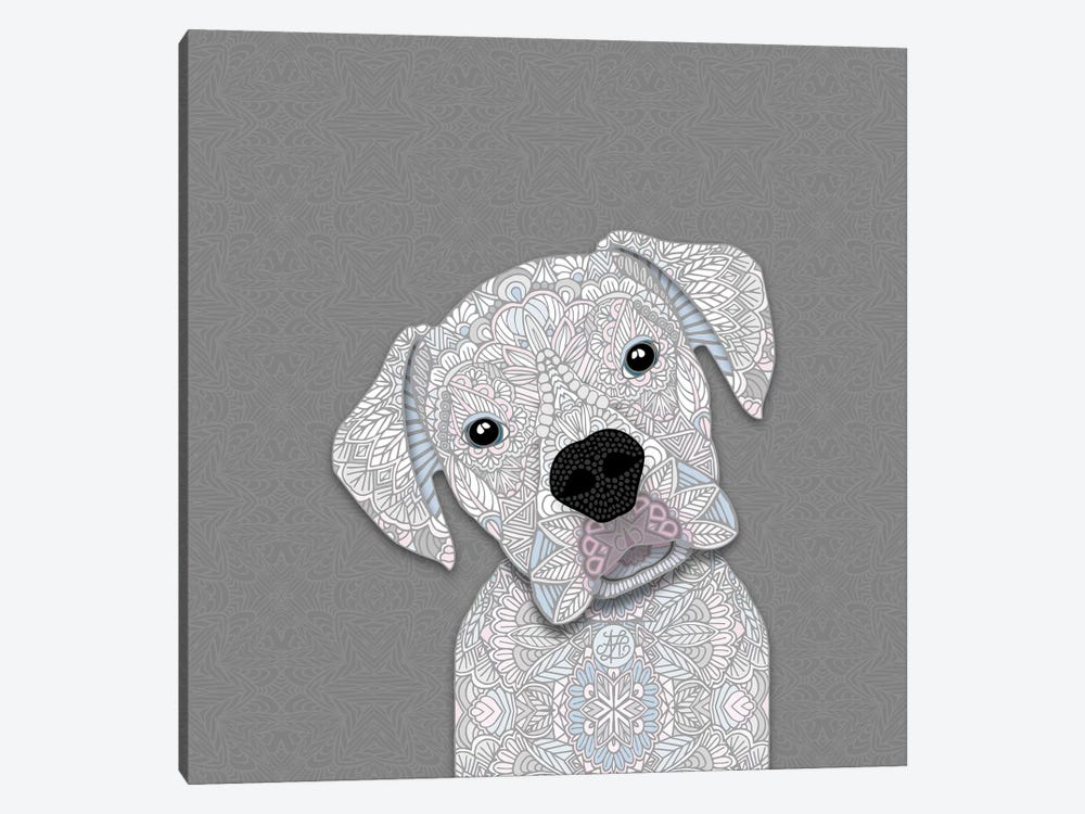 White Boxer by Angelika Parker 1-piece Canvas Wall Art