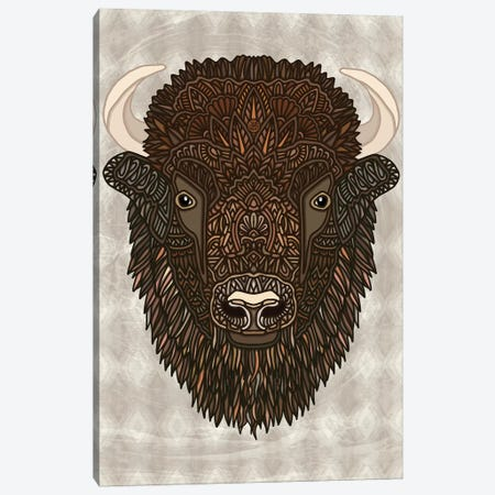 Bison Canvas Print #ANG183} by Angelika Parker Canvas Print