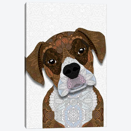 Brown Boxer Canvas Print #ANG184} by Angelika Parker Canvas Artwork
