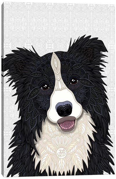 Cute Border Collie by Angelika Parker Canvas Art Print