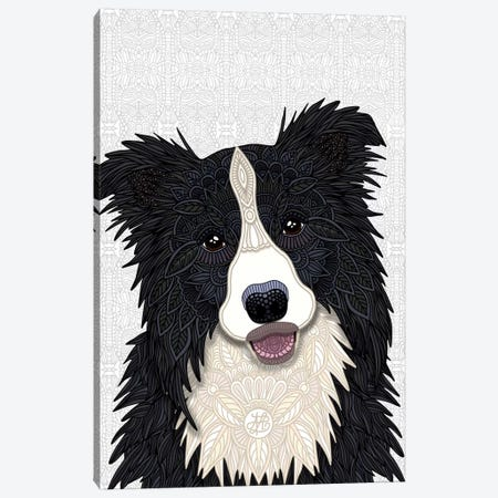 Cute Border Collie Canvas Print #ANG185} by Angelika Parker Canvas Wall Art
