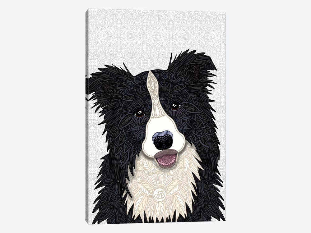 Cute Border Collie by Angelika Parker 1-piece Art Print