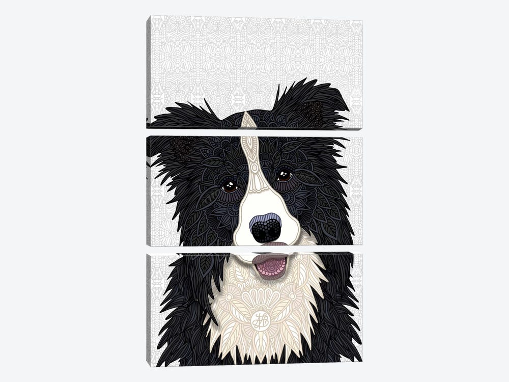 Cute Border Collie by Angelika Parker 3-piece Art Print