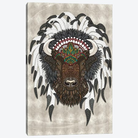 Native Bison Canvas Print #ANG186} by Angelika Parker Canvas Wall Art