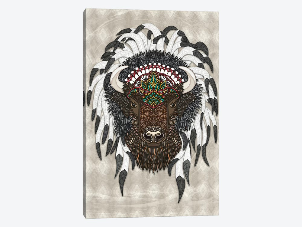 Native Bison by Angelika Parker 1-piece Canvas Wall Art