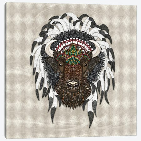 Native Bison Canvas Print #ANG187} by Angelika Parker Canvas Wall Art