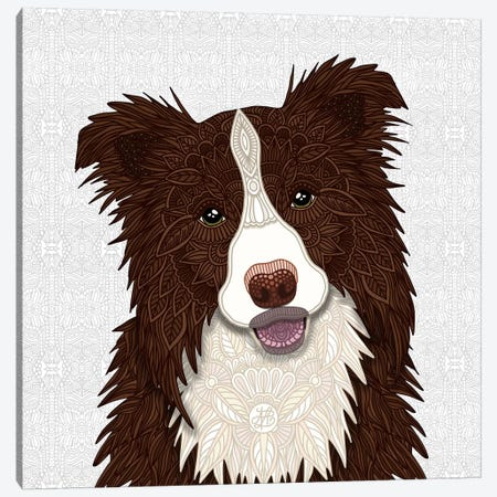 Red Border Collie Canvas Print #ANG188} by Angelika Parker Art Print