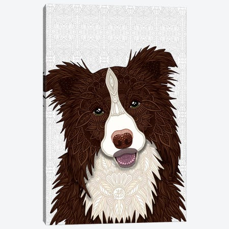 Red Border Collie Canvas Print #ANG189} by Angelika Parker Art Print