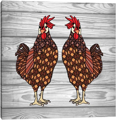 Chickens Canvas Art Print