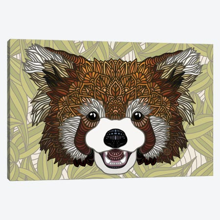 Red Panda Canvas Print #ANG190} by Angelika Parker Canvas Artwork