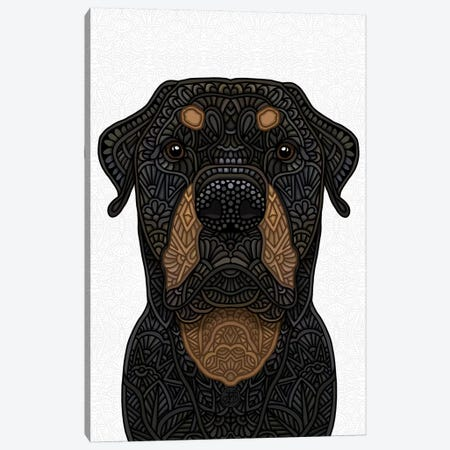 Rottweiler Canvas Print #ANG192} by Angelika Parker Canvas Art