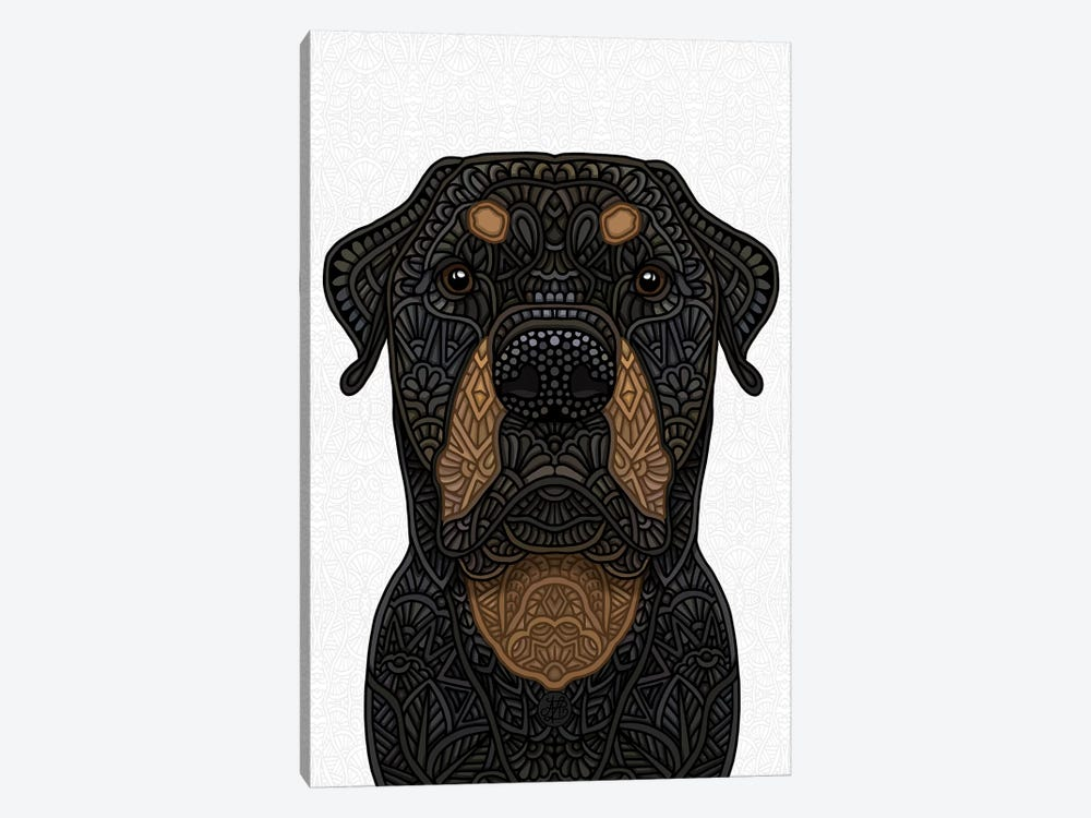 Rottweiler by Angelika Parker 1-piece Canvas Art Print