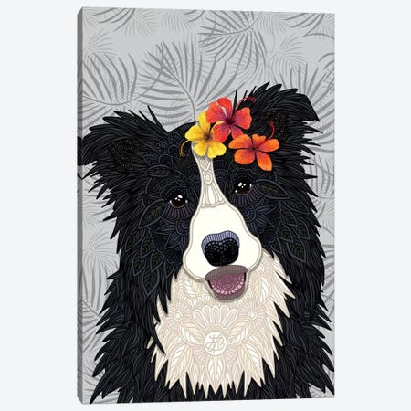 Tropical Border Collie Girl Canvas Print #ANG194} by Angelika Parker Canvas Art Print